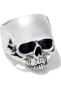 The Great Frog Jawless Medium Anatomical Skull Ring - Silver