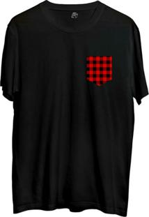 Camiseta Bsc Xadrez Pocket Sublimada Preto