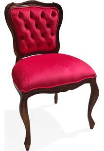 Cadeira Francesa Entalhada Madeira Maciça Design De Luxo Peça Artesanal