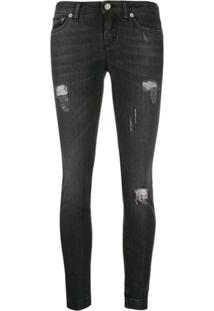 Dolce & Gabbana Calça Jeans Skinny Com Efeito Puído - Preto