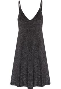 Vestido Sleepdress Veludo Shine - Preto