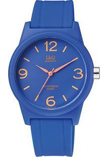 Relógio Qq De Pulso Analógico Vr35J014Y Feminino - Feminino-Azul