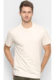 Camiseta Reserva Lisa Básica Masculina - Masculino-Areia