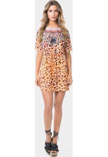 Vestido Estampado Tiras Costas Girafa - Lez A Lez