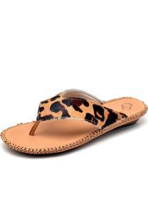 Chinelo Sandalia Feminino Rasteira Top Franca Shoes Nozes Onca