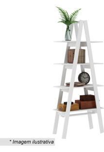 Estante Escada- Branca- 180,4X77X33Cm- Movelbentmovel Bento