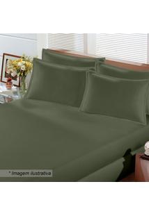 Jogo De Cama Image Rolinho King Size- Verde Militar-Buettner
