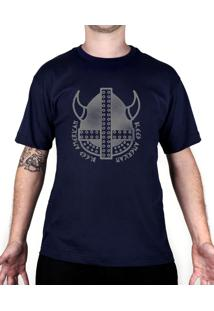 Camiseta Bleed American Vickings Azul Marinho