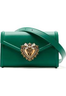 Dolce & Gabbana Pochete Devotion De Couro - Verde
