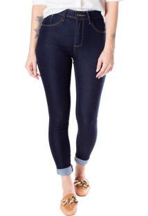 Calça Skinny Feminina One Jeans Azul Escuro - 36