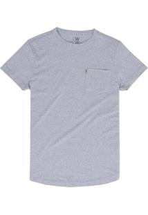 Camiseta West Coast Modern Pocket Mirtilo Cinza