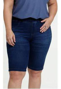 Bermuda Feminino Jeans Stretch Plus Size