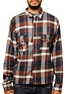 Camisa Andy Roll Clothing Flanela Mellowted Marrom