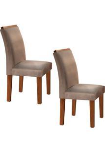 Conjunto Com 2 Cadeiras Sevilha Chocolate E Bege