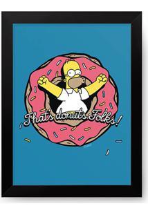 Pã´Ster Com Moldura Donuts Homer - Os Simpsons - Multicolorido - Dafiti
