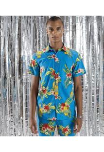 Camisa Estampada The Simpsons Homer Tropical