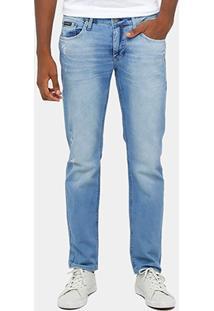 Calça Jeans Skinny Calvin Klein Stone Marmorizada Puídos Masculina - Masculino