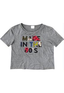Blusa Cinza Made In The 90'S Enfim