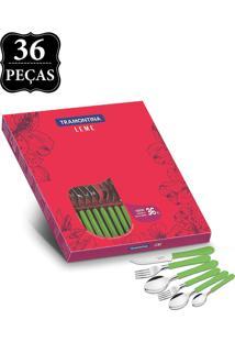 Faqueiro Tramontina Inox 36Pçs Leme Verde