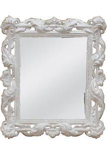 Espelho- Espelhado & Bege Claro- 36X30Cm- Btc Debtc Decor