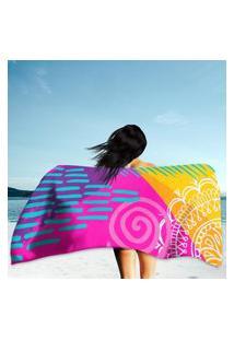 Toalha De Praia / Banho Boho Pop Art Único