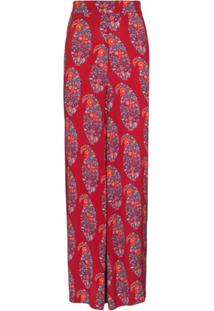 Boteh Calça Pantalona Philomena - Vermelho