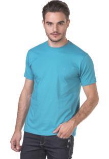 Camiseta Docthos Manga Curta Azul Turquesa