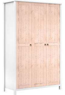 Guarda-Roupa Solteiro Color 3 Pt 2 Gv Branco E Rosa
