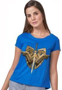 Camiseta Feminina Wonder Woman Sword & Emblem - Feminino
