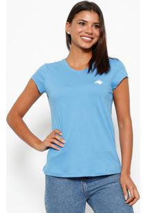 Camiseta Com Logo Da Marca- Azul & Brancaclub Polo Collection