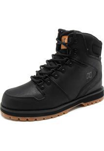 Bota Couro Dc Shoes Peary Preta