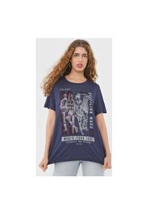 Camiseta Colcci World Tour Azul-Marinho