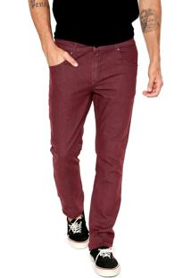 Calça Jeans Quiksilver Slim Street Color Vinho