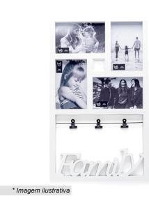 Painel De Fotos Família- Branco & Preto- 46X27,5X2Cmludi
