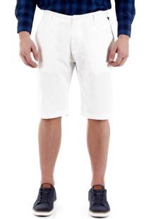 Bermuda Sarja Masculina Broken Rules - Branco
