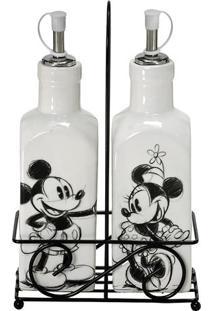 Galheteiro Mickey®- Off White & Preto- 2Pçs- Mabmabruk