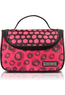 Necessaire Para Viagem Jacki Design Microfibra - Feminino-Vermelho