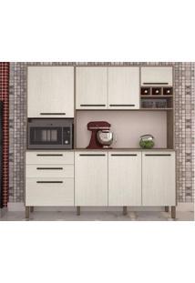Cozinha Ágata Com 8 Portas Nogal/Arena – Lc Móveis