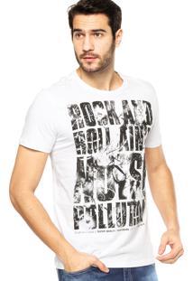Camiseta Manga Curta Ellus Fine Noise Polution Branca