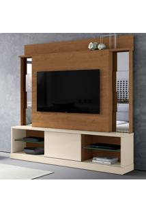 Estante Para Home Theater E Tv Até 65 Polegadas Doha Nature E Off White