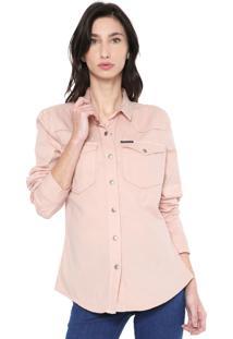 Camisa Sarja Calvin Klein Jeans Bolsos Rosa