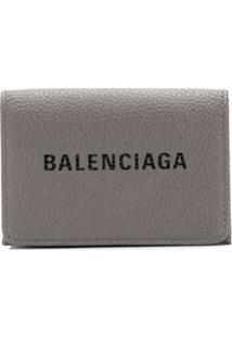 Balenciaga Carteira 'Everyday' Mini - Cinza