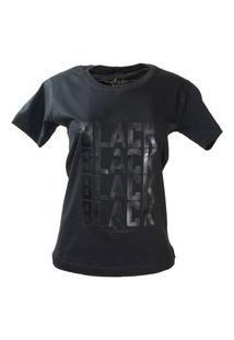 T-Shirt All Black Preto