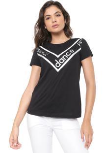Camiseta Dimy Recortes Preta
