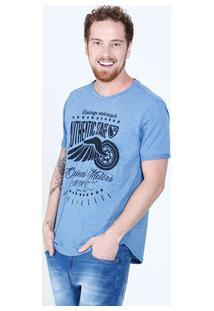 Camiseta Masculina Estampa Asa Manga Curta Tribo
