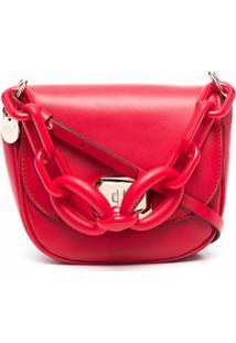 Red(V) Bolsa Transversal Com Detalhe De Corrente - Vermelho