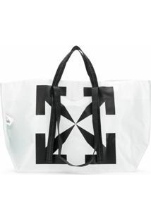 Off-White Bolsa Tote Com Logo Off White - Branco