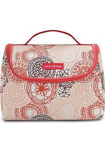 Bolsa Térmica Mandala - Salmão & Branca - 16X22X12Cmjacki Design