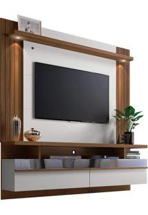 Painel Home P/ Tv Até 60 Pol. São Luis 1.8 Off White/Nogueira Linea Brasil