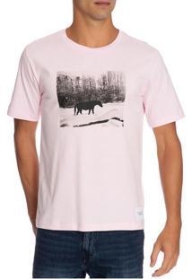 T-Shirt Ckj Masc Mc Andy Warhol Landscap - Rosa Claro - P